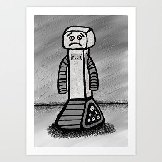 RU5-T the Robot Art Print