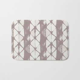 Simply Braided Chevron Red Earth on Lunar Gray Bath Mat