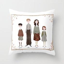 The Pevensies Throw Pillow