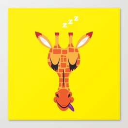 Sleepy Giraffe Canvas Print