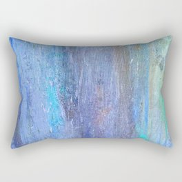 Edges of the Sky in Blues, Aquas and Green Rectangular Pillow