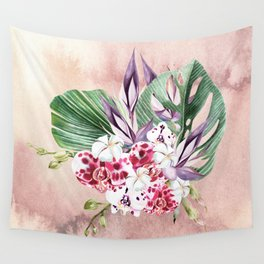 Tropical Spotted Orchids Wall Tapestry