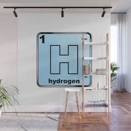 Hydrogen From The Periodic Table Wall Mural