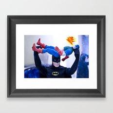 Captain America in Trouble 3 Framed Art Print