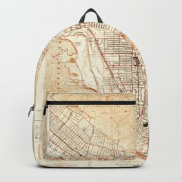 Glendale, CA from 1928 Vintage Map - High Quality Backpack