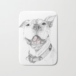 A Smile is Worth a Thousand Words :: A Pit Bull Smile Bath Mat