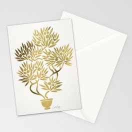 Bonsai Fruit Tree – Gold Palette Stationery Cards