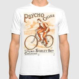 Retro Psycho Cycles Ad T-shirt