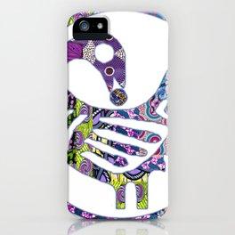 Purple Sankofa Bird iPhone Case