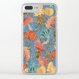 Fall Woodland Clear iPhone Case