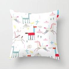 MerryGoRound Throw Pillow