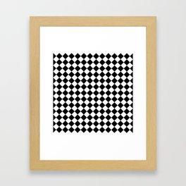 schwarz weiß kariert 2 Framed Art Print