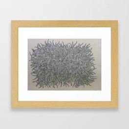 Twisting Framed Art Print