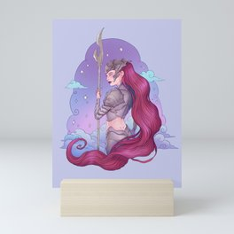 Cancer Zodiac Sign - Silver Mini Art Print