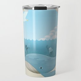 Whale & Seagull (US and THEM) Travel Mug