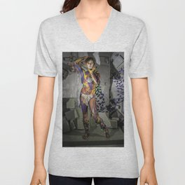 Grey Lights Unisex V-Neck