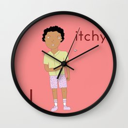 I is for itchy Wall Clock