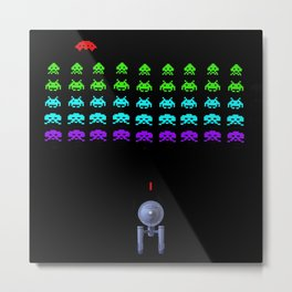 Space: (the final frontier) Invaders Metal Print