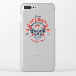 bad skull Clear iPhone Case