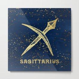Sagittarius Zodiac Sign Metal Print