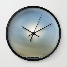Plane in the Sun circle Wall Clock