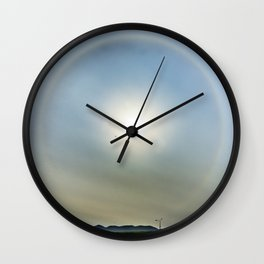 Plane in the Sun circle Wall Clock