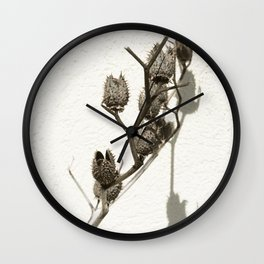 Dry plant Wall Clock