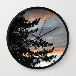 Oregon Sunset Wall Clock