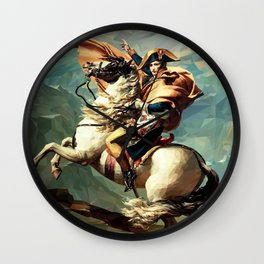 France's Napoleon Crossing the Alps Wall Clock