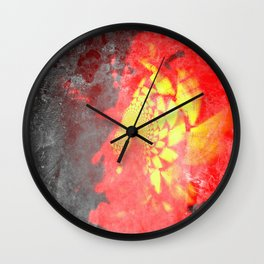 Fire Rose Wall Clock