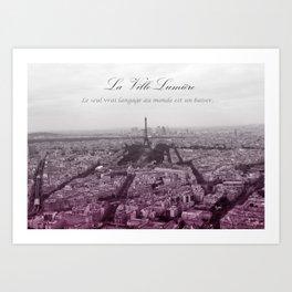 La Ville-Lumiére Art Print