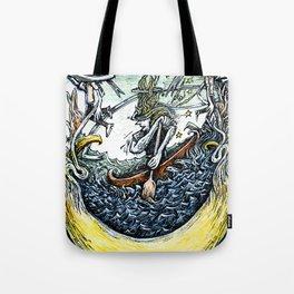Crescent Canoeist Tote Bag
