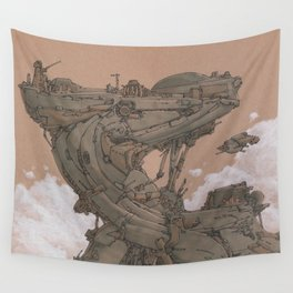 Aerial Station One Wall Tapestry