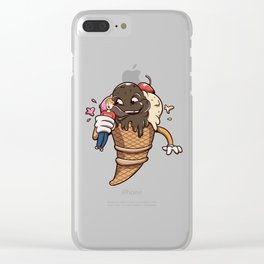Ice Cream Man Eater Clear iPhone Case