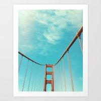 bridge Art Prints featuring bridge by Laura Moctezuma