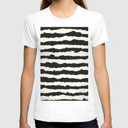 Horizontal Ivory Stripes T-shirt