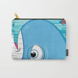 Cute Jonah and the Whale Carry-All Pouch