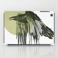raven iPad Cases featuring raven by morgan kendall
