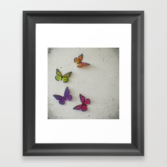 Oh to be a Butterfly Framed Art Print