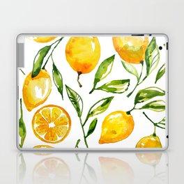 lemon watercolor Laptop & iPad Skin