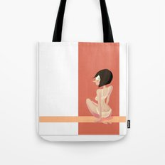 Cute red shapes pin-up / Mignonne pin-up aux formes rouges Tote Bag