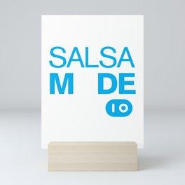 Salsa Mode On Funny Salsa Dancers Mini Art Print