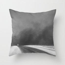 Car Driving in Dust Bowl - Texas 1936 Throw Pillow