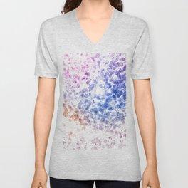 Colorful Watercolor Spots Unisex V-Neck
