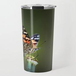 An American Lady Buttefly Travel Mug