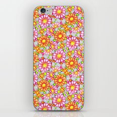 Summer Daisies Tiled Pattern iPhone Skin