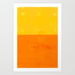 Sherbert Orange and Yellow Colors Art Print