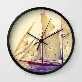 Afternoon Sail Wall Clock