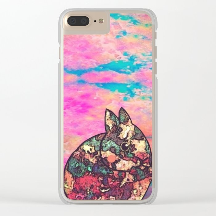 rabbit-73 Clear iPhone Case