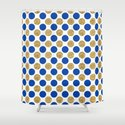 Pastel pink navy blue faux gold glitter polka dots by pink_water